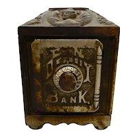Cast Iron Safe Bank 1890's