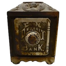 Cast Iron Safe Bank 1890's