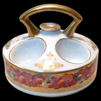 Porcelain Egg Server Carrier Warmer