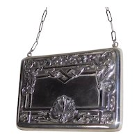 Sterling silver Calling Card Case Purse, 19th c.
