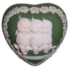 Kewpies Heart Shaped Jasperware Box