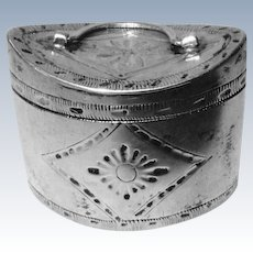 Silver Miniature Hat Box Early 19th c.