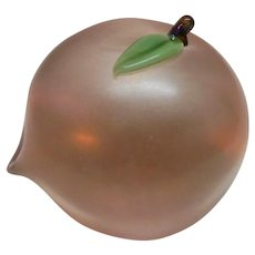 Orient and Flume Paperweight Peach