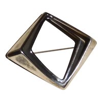 Sterling Mid Century Modern Norway pin Odvar Pettersen at PLUS