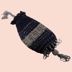 Beaded Drawstring Purse Reticule Miser's pouch