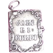 Silver Miniature Book for Chatelaine or chain Italian