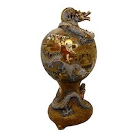 Satsuma Dragon Urn Masterpiece 19th. c.
