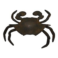 Cast Iron Figural Crab Inkwell