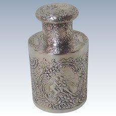 Silver Tea Caddy European 19th c.