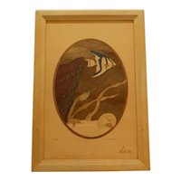 Wooden Marquetry Inlay Picture Hudson River Inlay