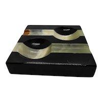 Art Deco Cigar Ashtray Onyx Stone