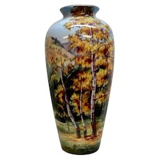 Noritake Hand Painted Mountain Scenery vase