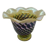 Vandermark Studios Art Glass Large Vase Iridescent