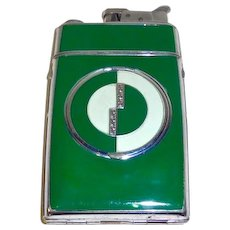 Art Deco Compact Cig. Case Lighter Combination Evans