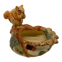 Weller Woodcraft Squirrel on Bowl 1920's