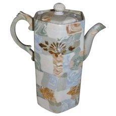 Banko Marquetry Japanese Porcelain Teapot Sake Pot