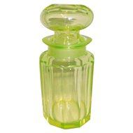 Vaseline Cut Glass Apothecary Pharmaceutical Jar
