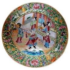 Chinese Export Plate Mandarins 19th C.