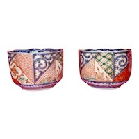 Imari Tea Bowls Pair 19th century