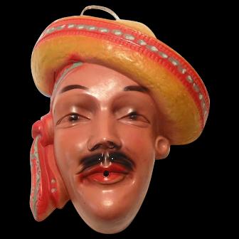 Spanish Latino Man Ceramic String Holder