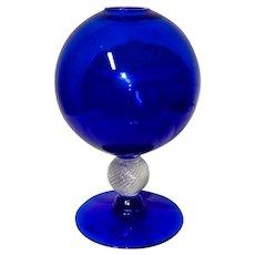 Fry Cobalt Ivy Bowl Vase c. 1930