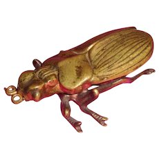 Match Safe match box Beetle Bug Bradley & Hubbard