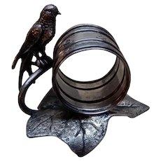 Figural Napkin Ring Meriden Quad PLate