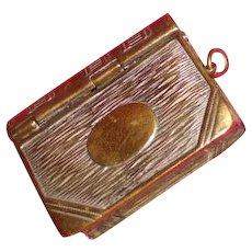 Stamp Box Match Safe combination brass book form
