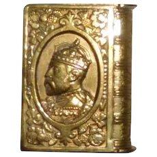 Vesta Match Safe Edward VII Royal Commemorative Book Form