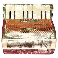 Accordion Figural Cigarette & Music Box 1950's