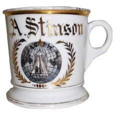 Antique Shaving mug Occupational Fraternal