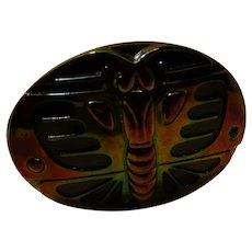 Carnival Glass Hatpin Butterfly c. 1920