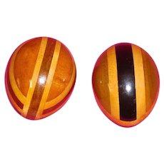 Vintage Sewing Darning Eggs Inlaid Wood
