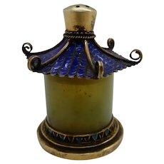 Enamel Silver Jade Salt Shaker made from Archer's  Ring