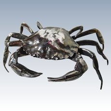 Silver Plated Ring Box Realistic Crab