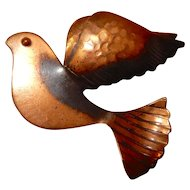 Rebajes Copper Bird Pin Unusual