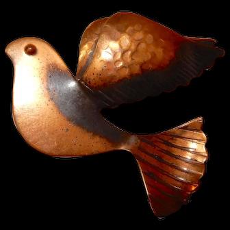 Rebajes Copper Bird Pin Unusual