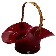 Fenton Mandarin Opaque Red Basket 1934