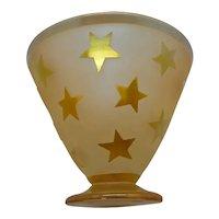 Corriea Art Glass Gold Iridescent Cut Back Stars