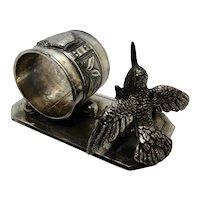 Victorian Silver Plate Figural Napkin Ring Hummingbird