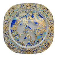 Bjorn Wiinblad Glass Christmas Plate 1977 for Rosenthal