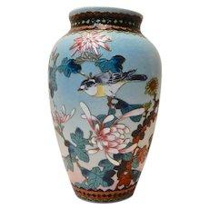 Japanese Sharkskin Porcelain Cloisonne Vase