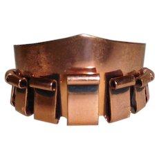 Copper Cuff bracelet Renoir 1950's Mid Century Modern