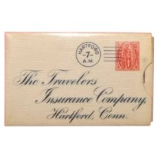 Stamp Holder Celluloid 1905 Advertising Insurance