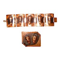 Rebajes Copper Pin & Bracelet Brazilian Masks
