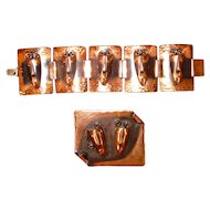 Rebajes Copper Pin & Bracelet Brazilian Masks