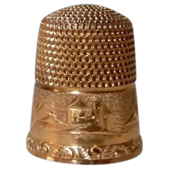 14K Gold Thimble Simons Bros. Phila.