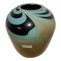 Roland Jahn Art Glass Vase 1972