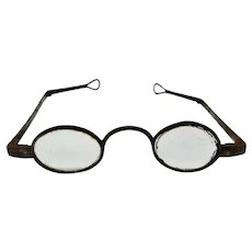 18th c. Early Spectacles Eyeglasses Wrought Iron