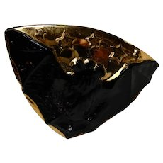 Glass Hatpin Figural Bat